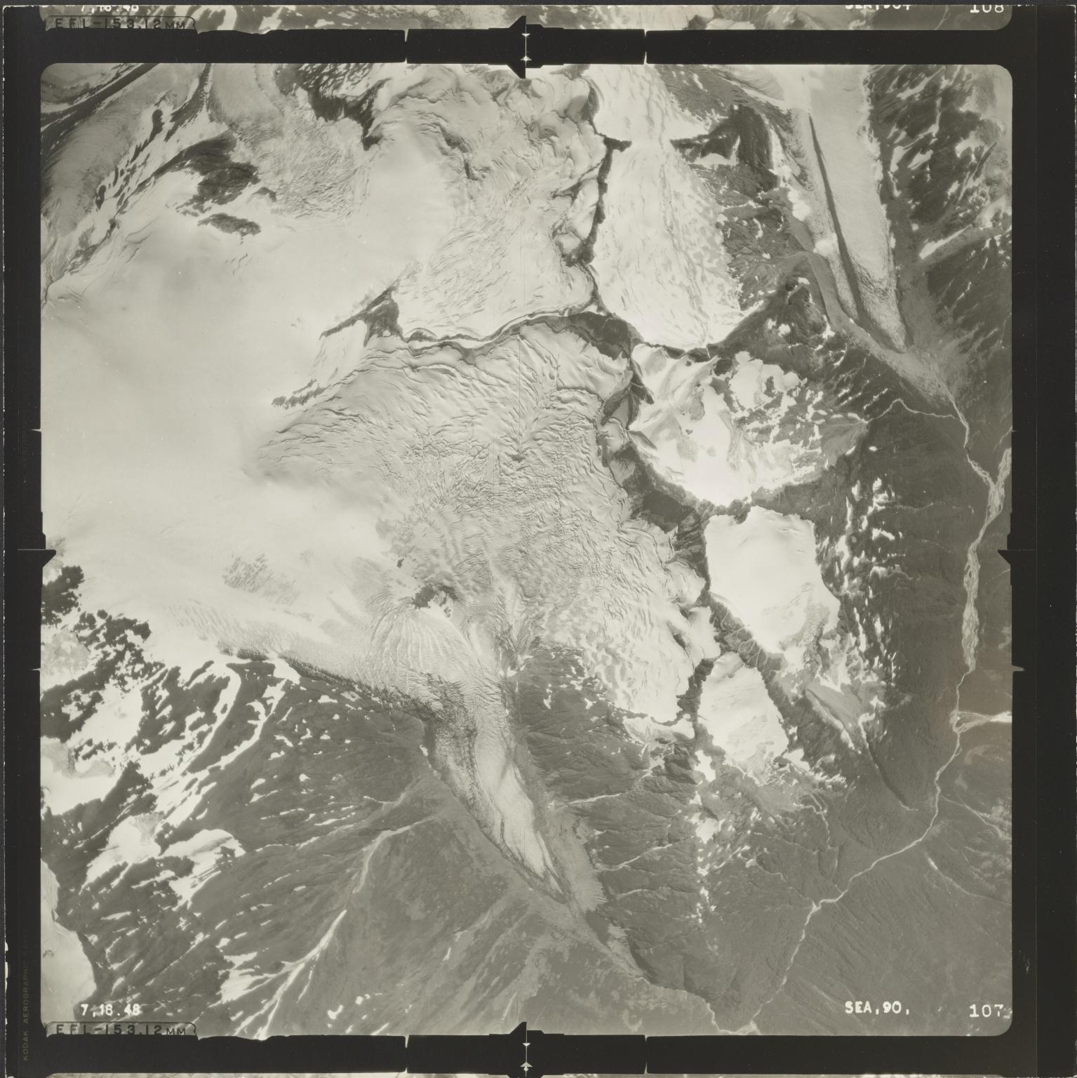 Unknown glaciers north of Blue River, British Columbia