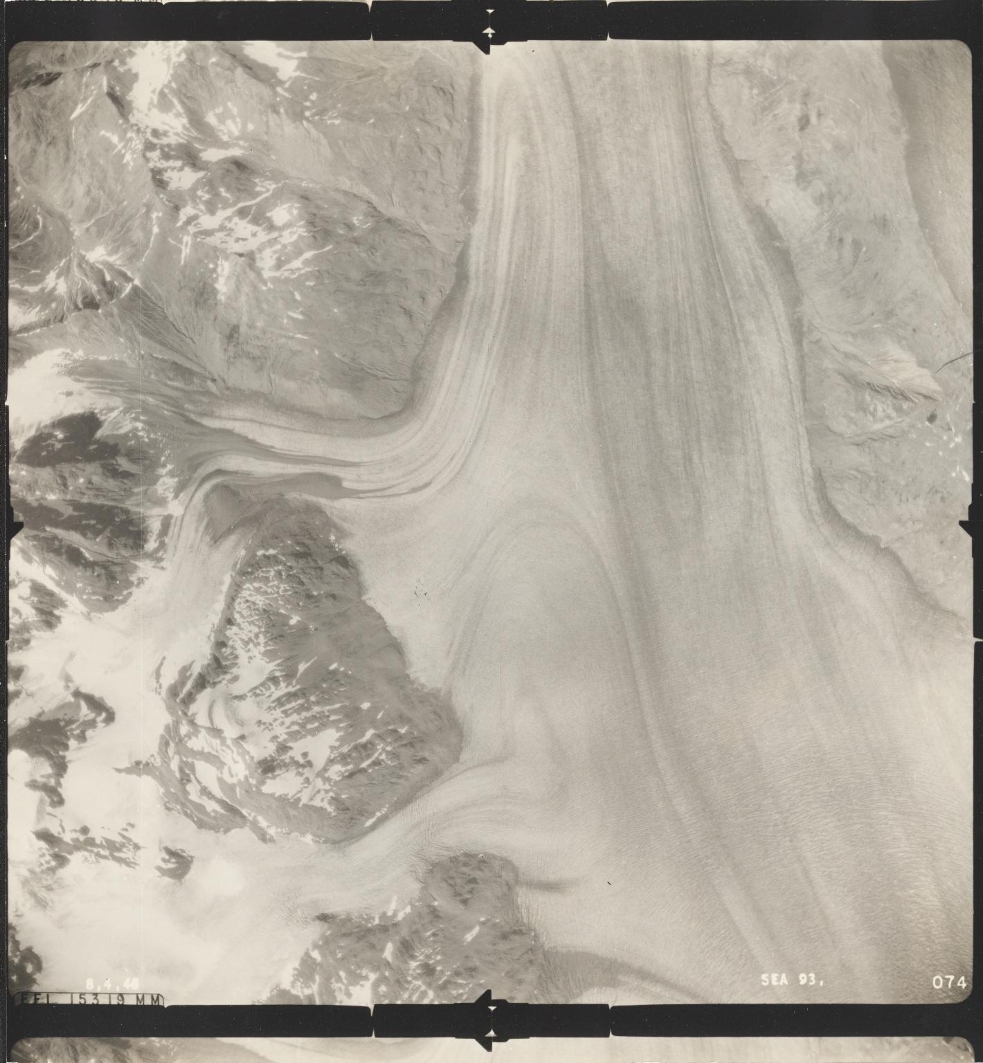 Plateau Glacier, aerial photograph SEA 93 074, Alaska