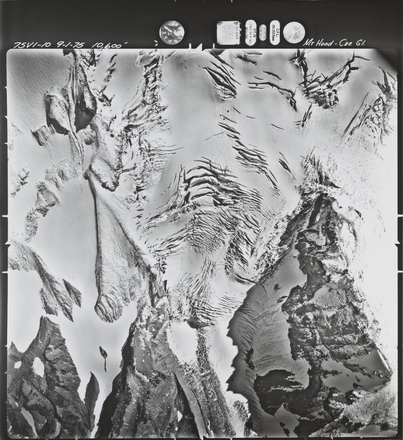 Coe Glacier near Mount Hood, Oregon