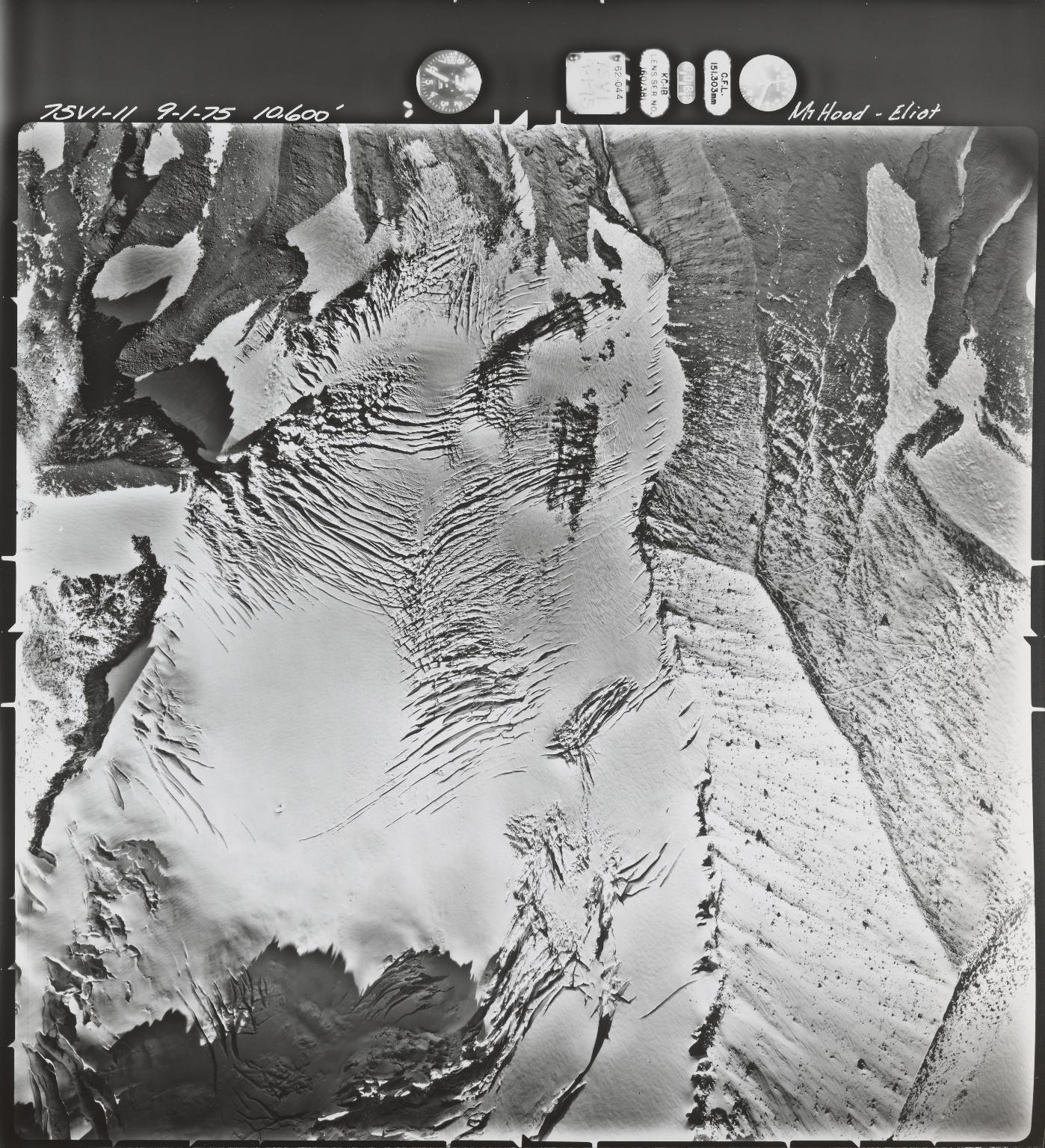 Eliot Glacier near Mount Hood, Oregon