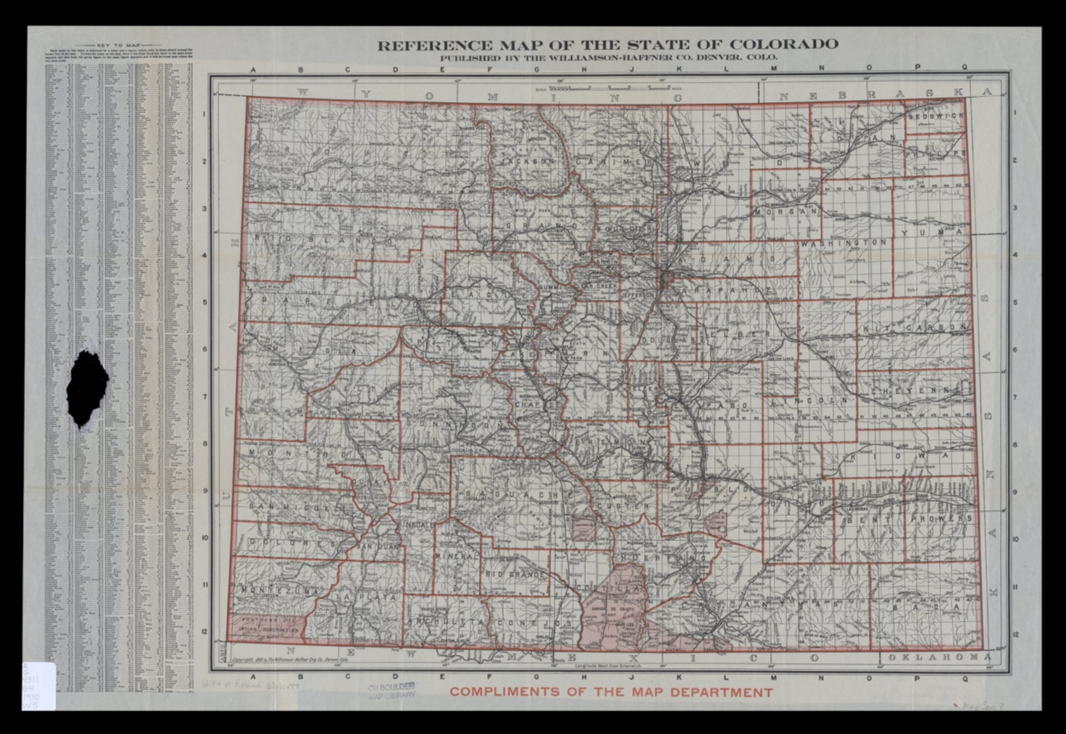 Reference map of the State of Colorado