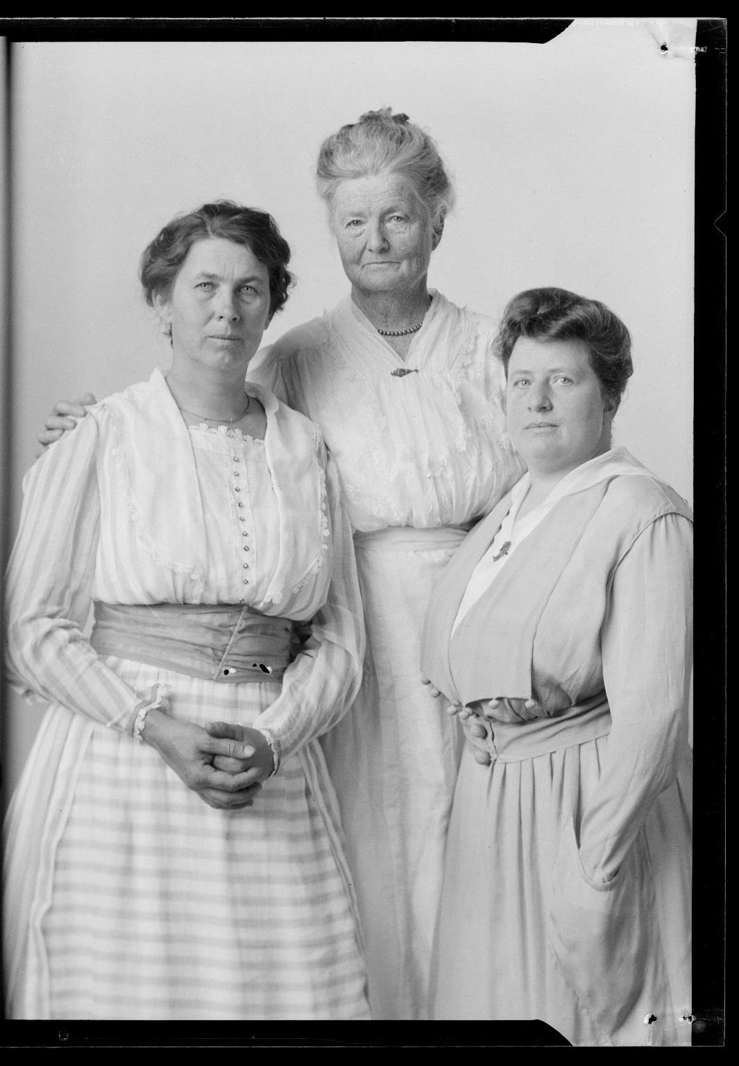 Portraits of Mrs. A. J. Swain and family