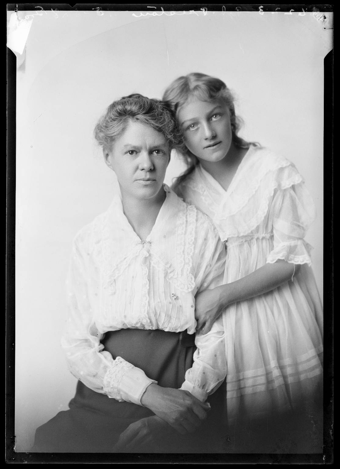 Portraits of Mrs. P. J. Preston and daughter