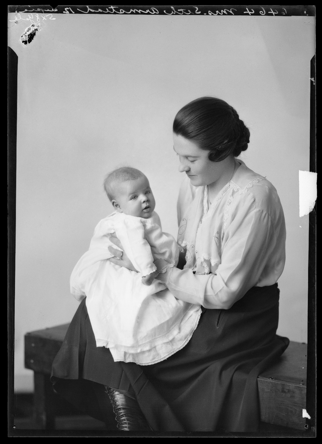 Portrait of Mrs. Seth Armstead and child