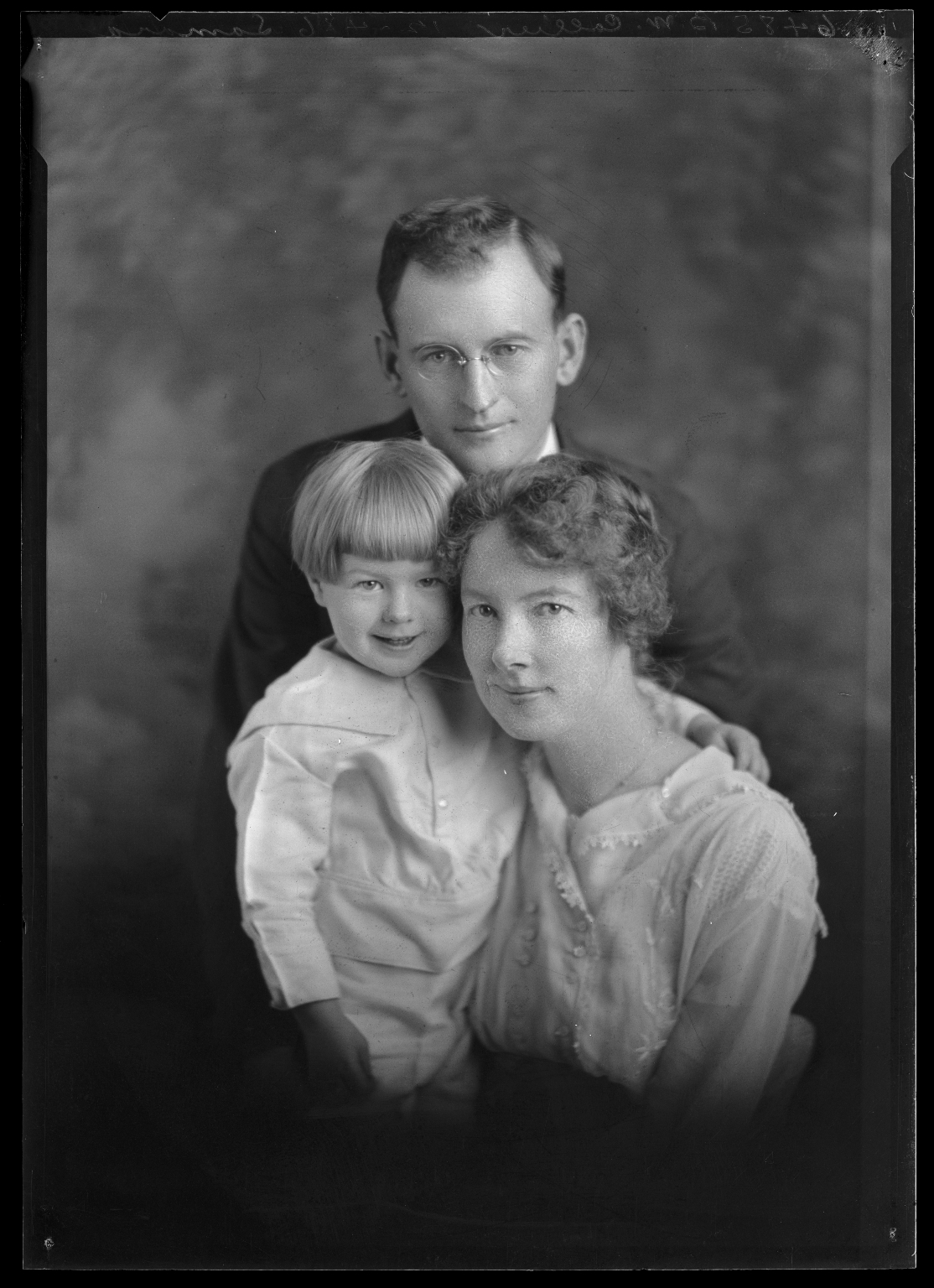 Portrait of B. W. Collier and family