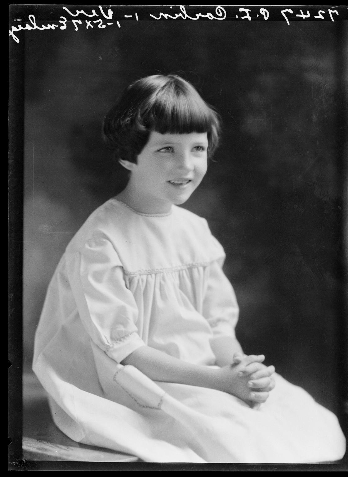 Portrait of child of P. L. Corbin