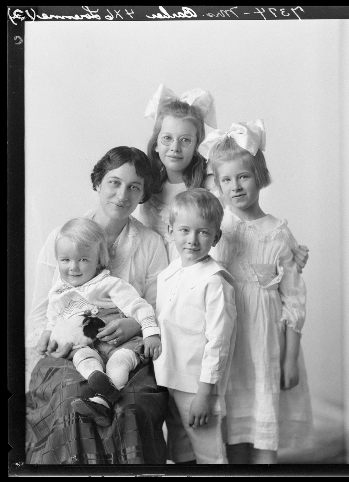 Portraits of Mrs. J. R. Barber and children