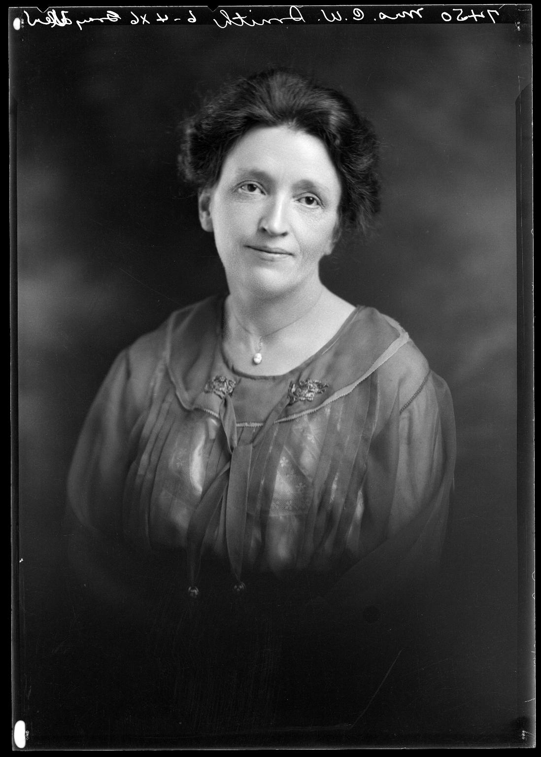 Portrait of Mrs. C. W. Smith