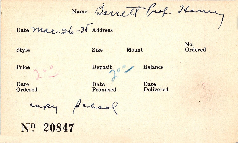 Index card for John Baird