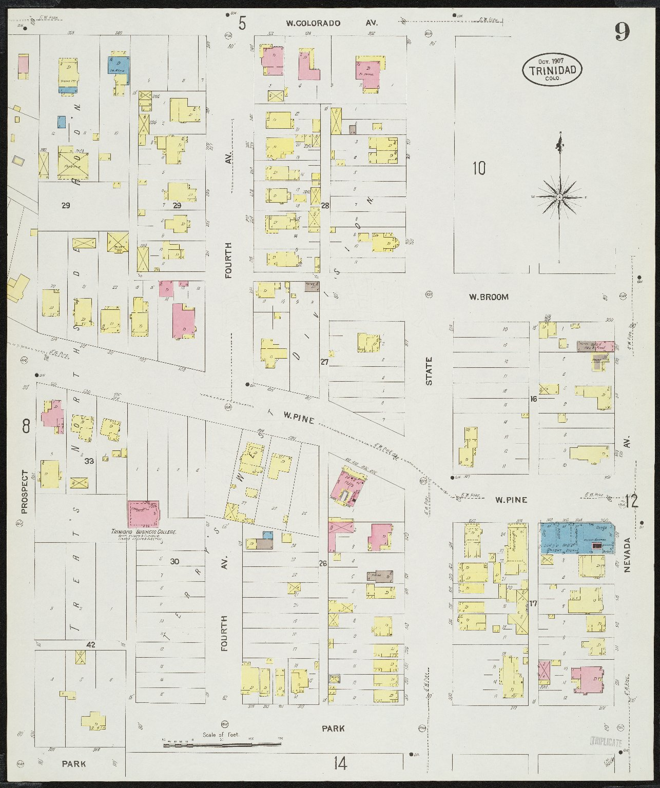 Insurance maps of Trinidad, Las Animas Co., Colorado