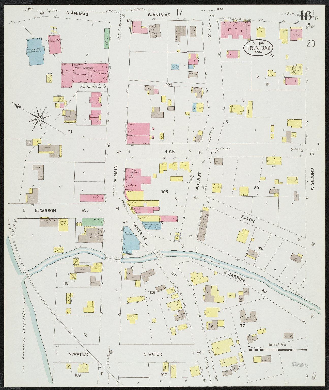 Insurance maps of Trinidad, Las Animas Co., Colorado