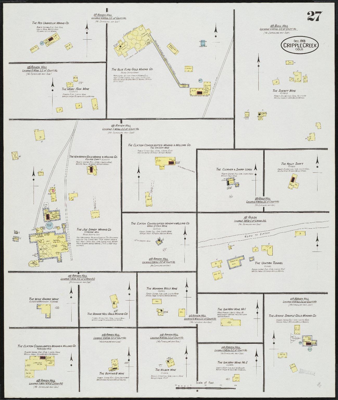 Insurance maps of Cripple Creek, Teller Co., Colorado