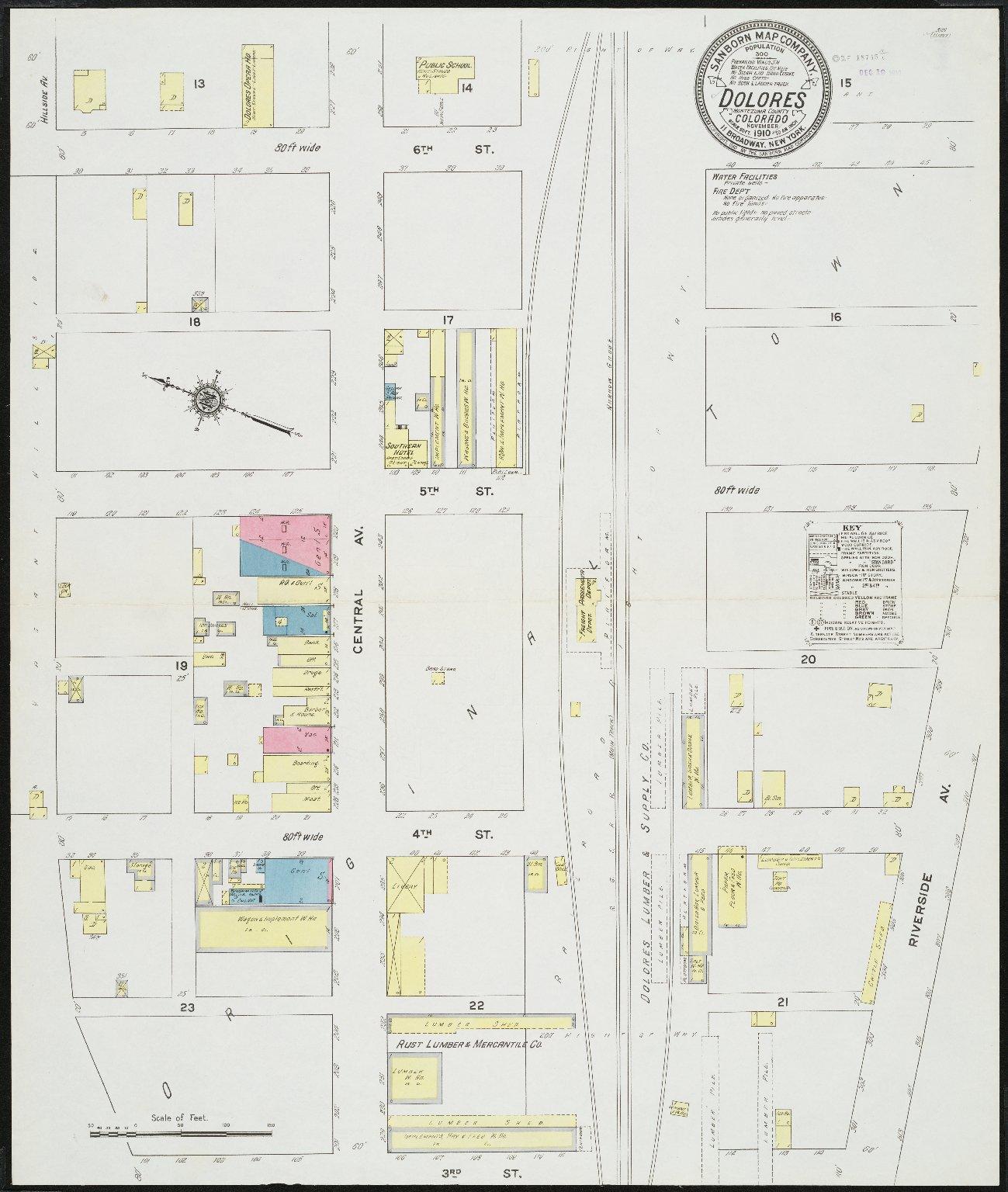 Dolores Montezuma County Colorado Sanborn Fire Insurance Map