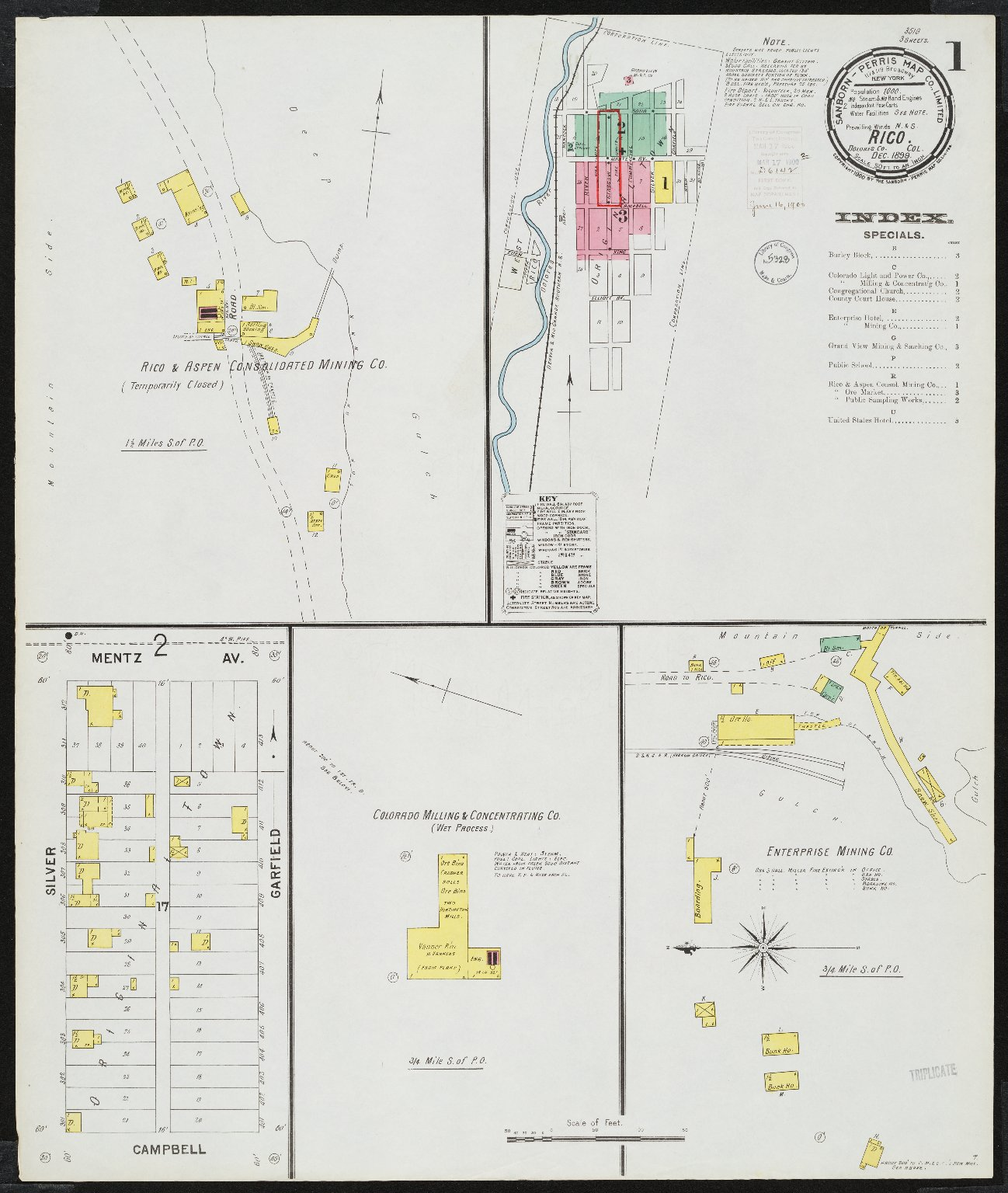 Rico Dolores Co Col Sanborn Fire Insurance Map Collection