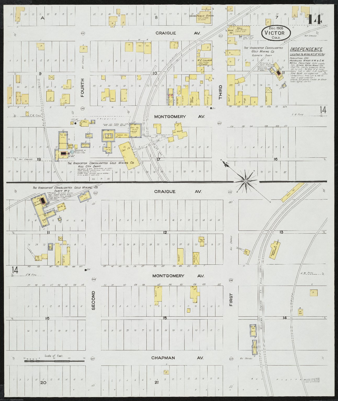 Insurance Maps of Victor, Teller County, Colorado