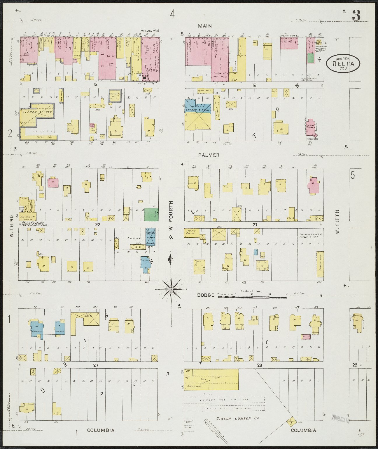 Delta County Colorado Map.Delta Delta County Colorado Sanborn Fire Insurance Map Collection