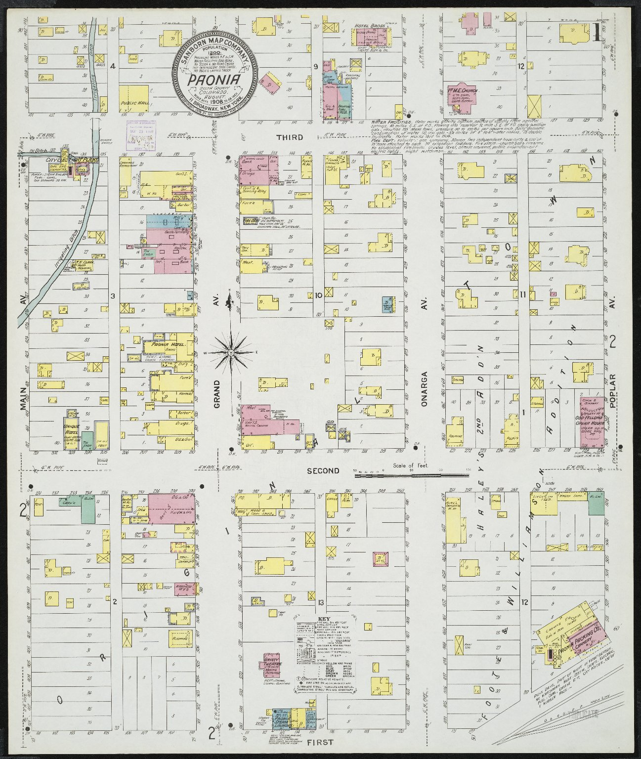 Delta County Colorado Map.Paonia Delta County Colorado Sanborn Fire Insurance Map Collection