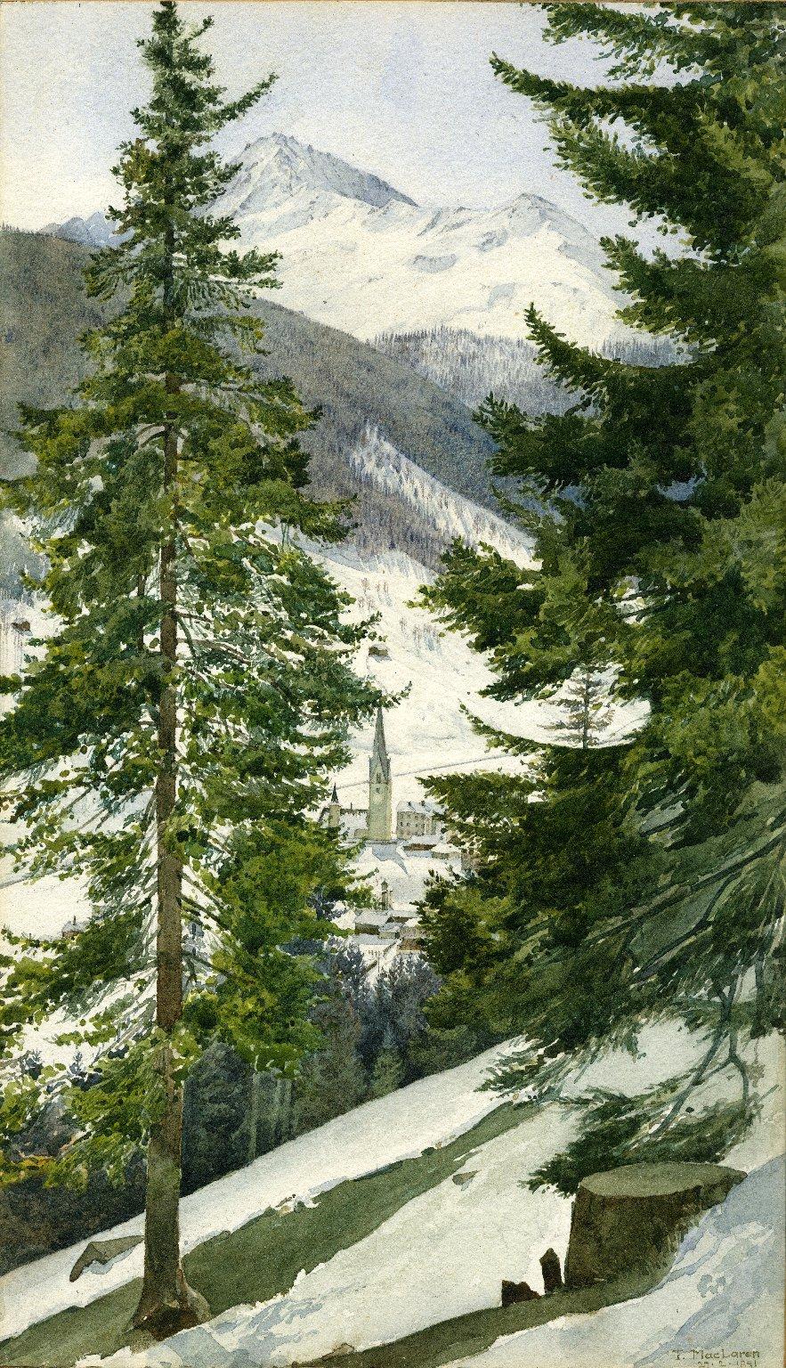 View from Schatz Alp, Davos-Platz