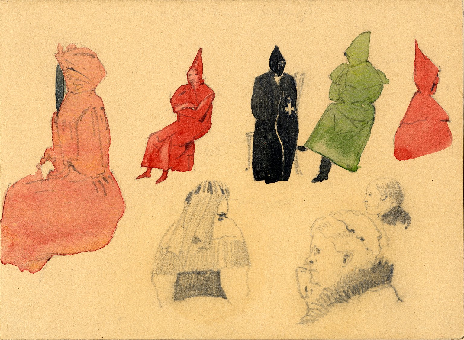 Various figures in costume