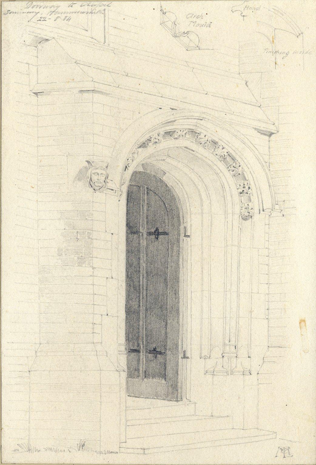 Doorway to chapel at Hammersmith seminary