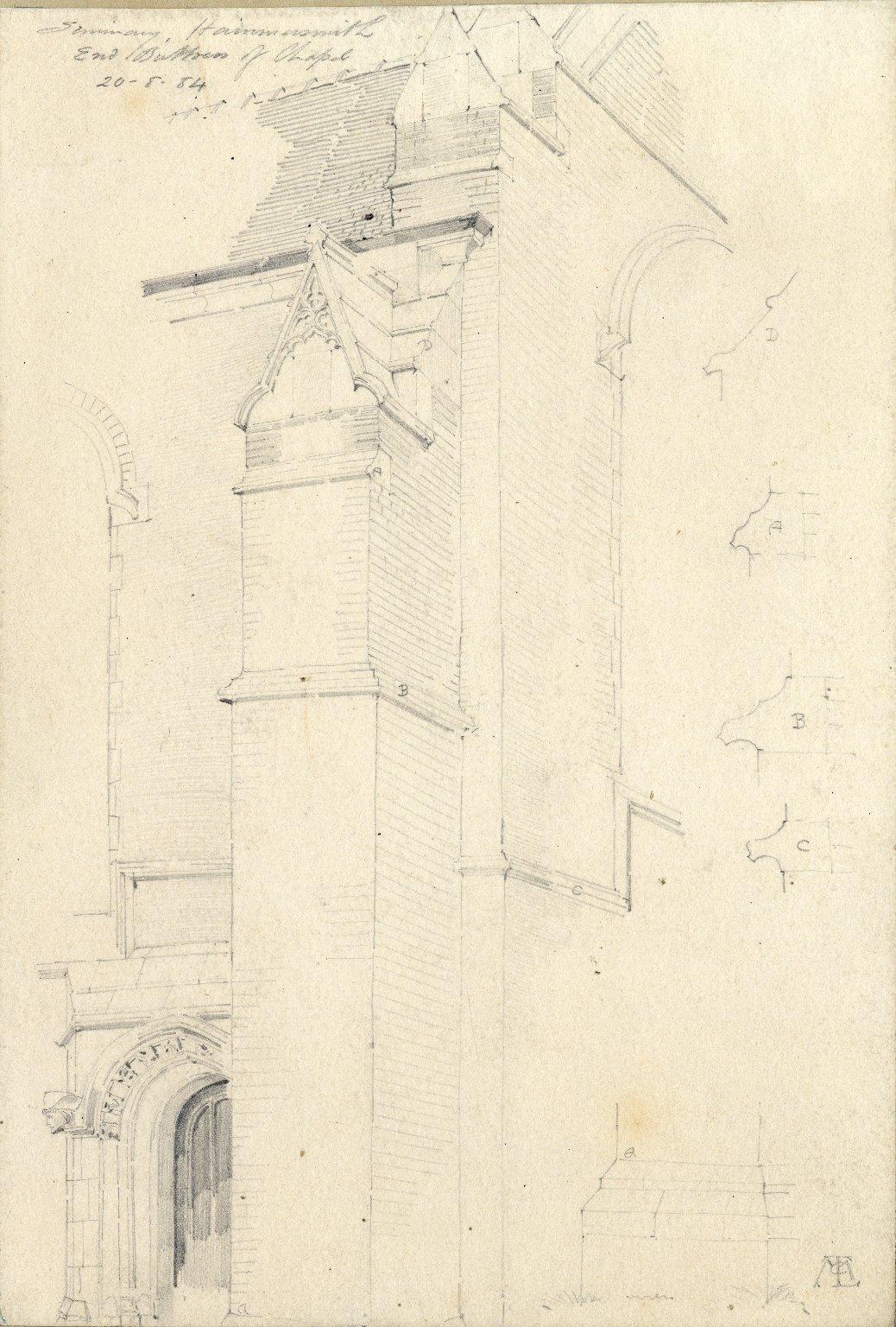 Detail of chapel at Hammersmith seminary