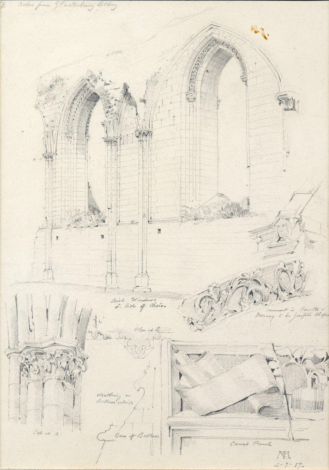 Studies of Glastonbury Abbey