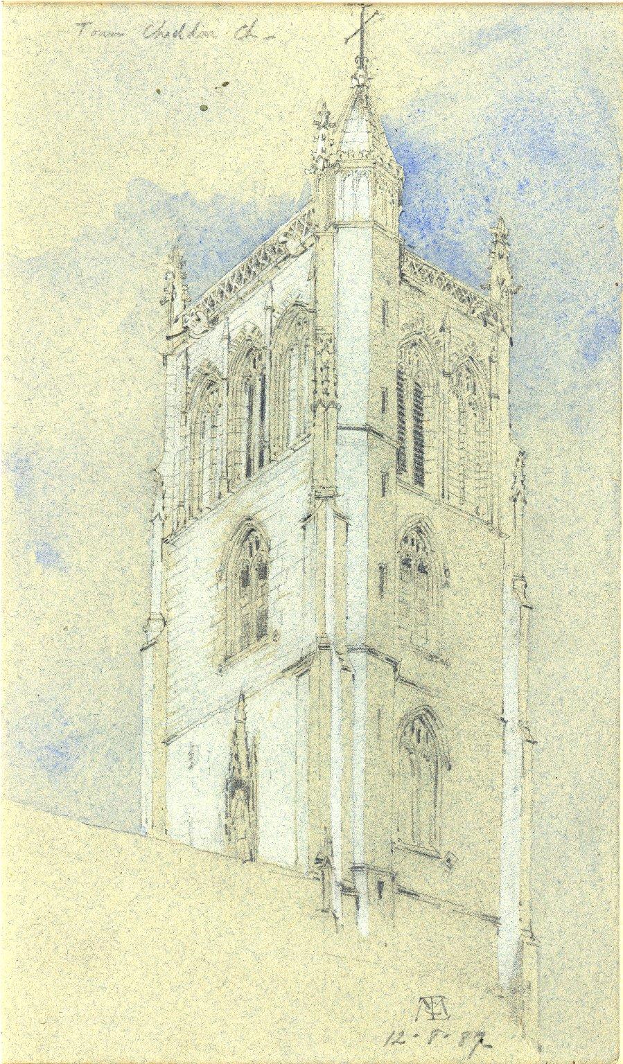 Cheddar Church tower