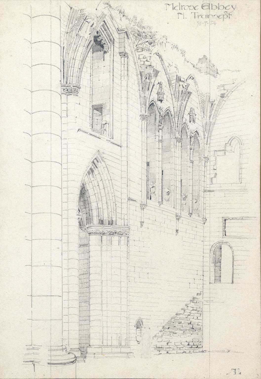 North Transept of Melrose Abbey