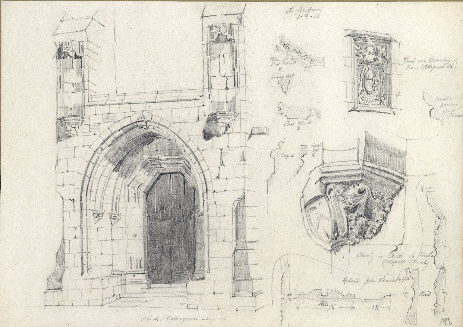 Porch of Collegiate Church at St. Andrew's