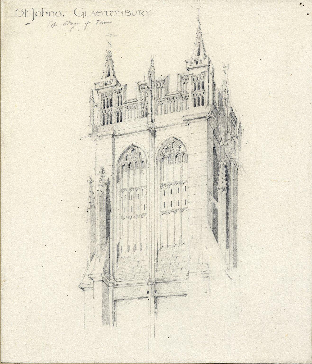 Top of tower at St. John's, Glastonbury