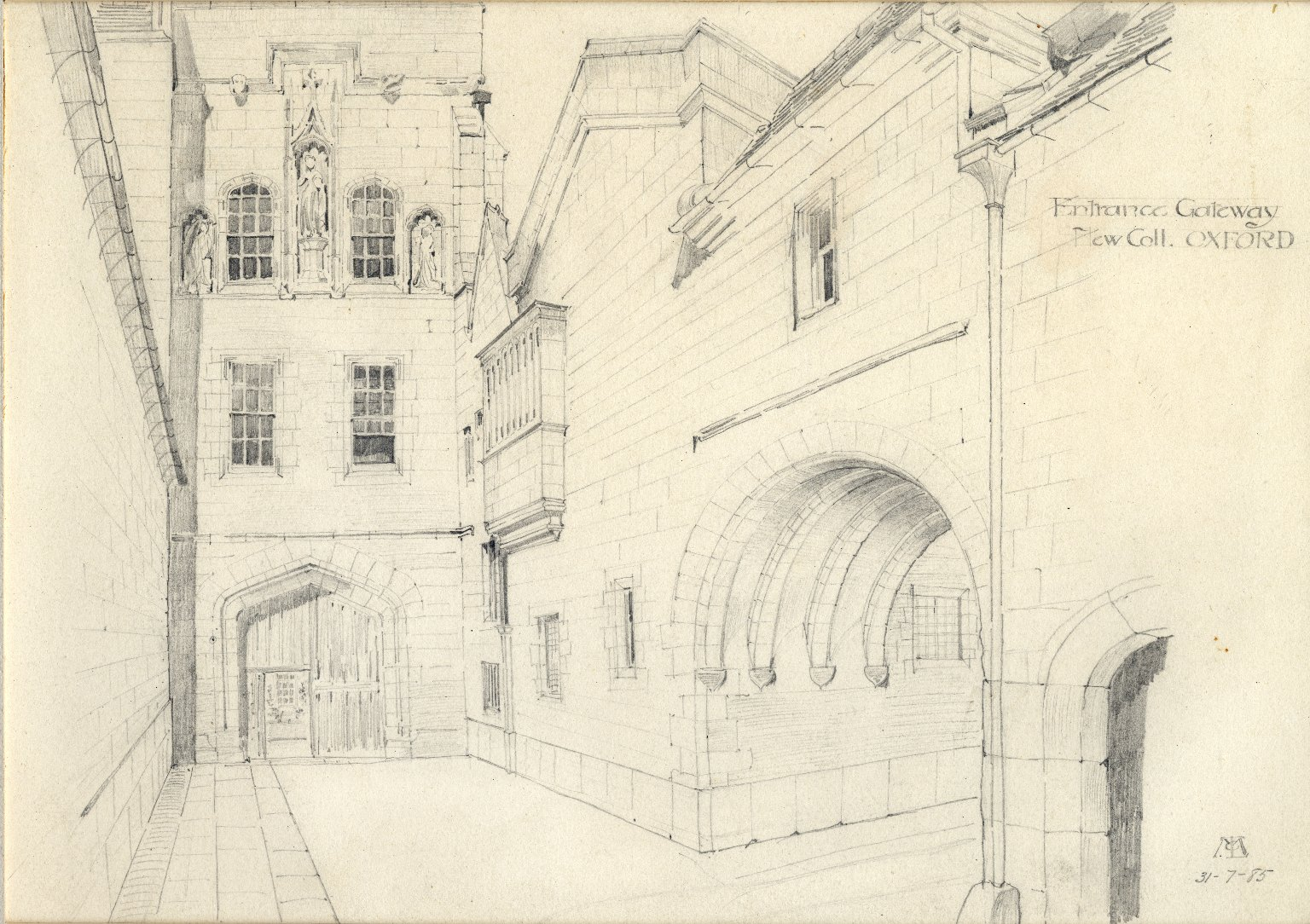 Entrance to New College, Oxford