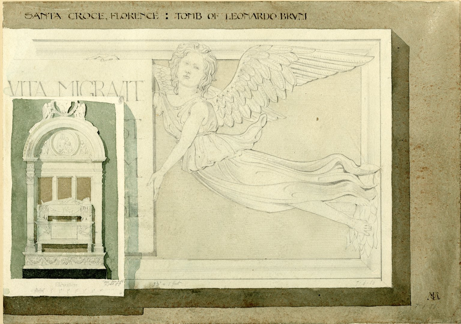Tomb of Leonardo Bruni, Santa Croce, Florence