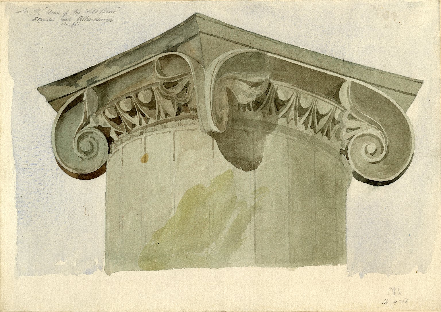 Capital of column from the House of the Wild Boar, Pompeii