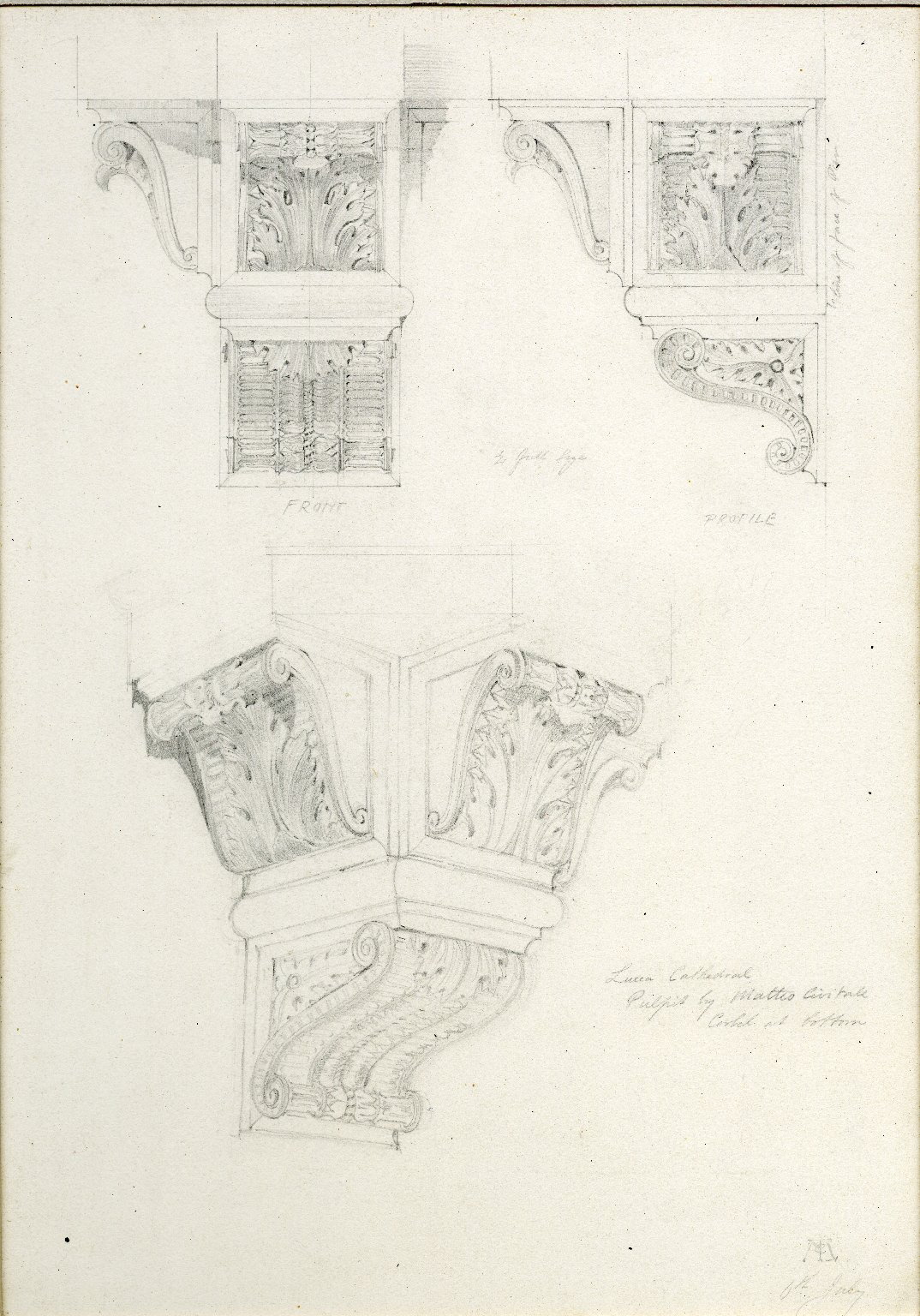 Lucca Cathedral. Pulpit by Matteo Civitale