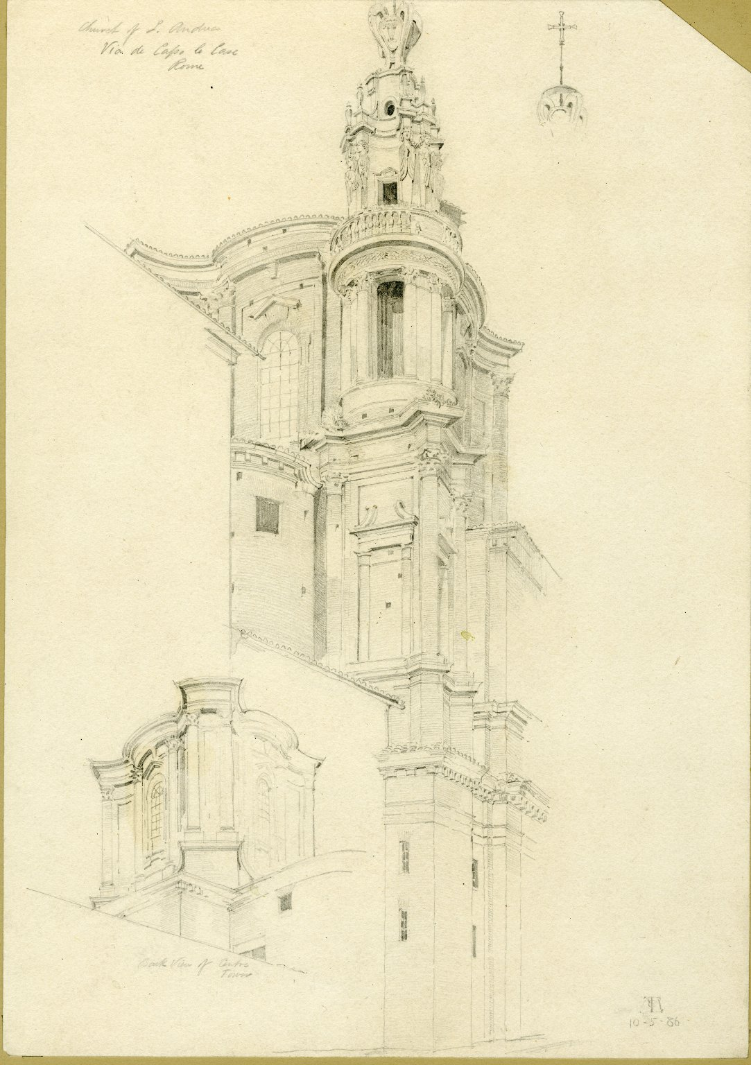Church of Sant'Andrea delle Fratte from the Via di Capo le Case, Rome