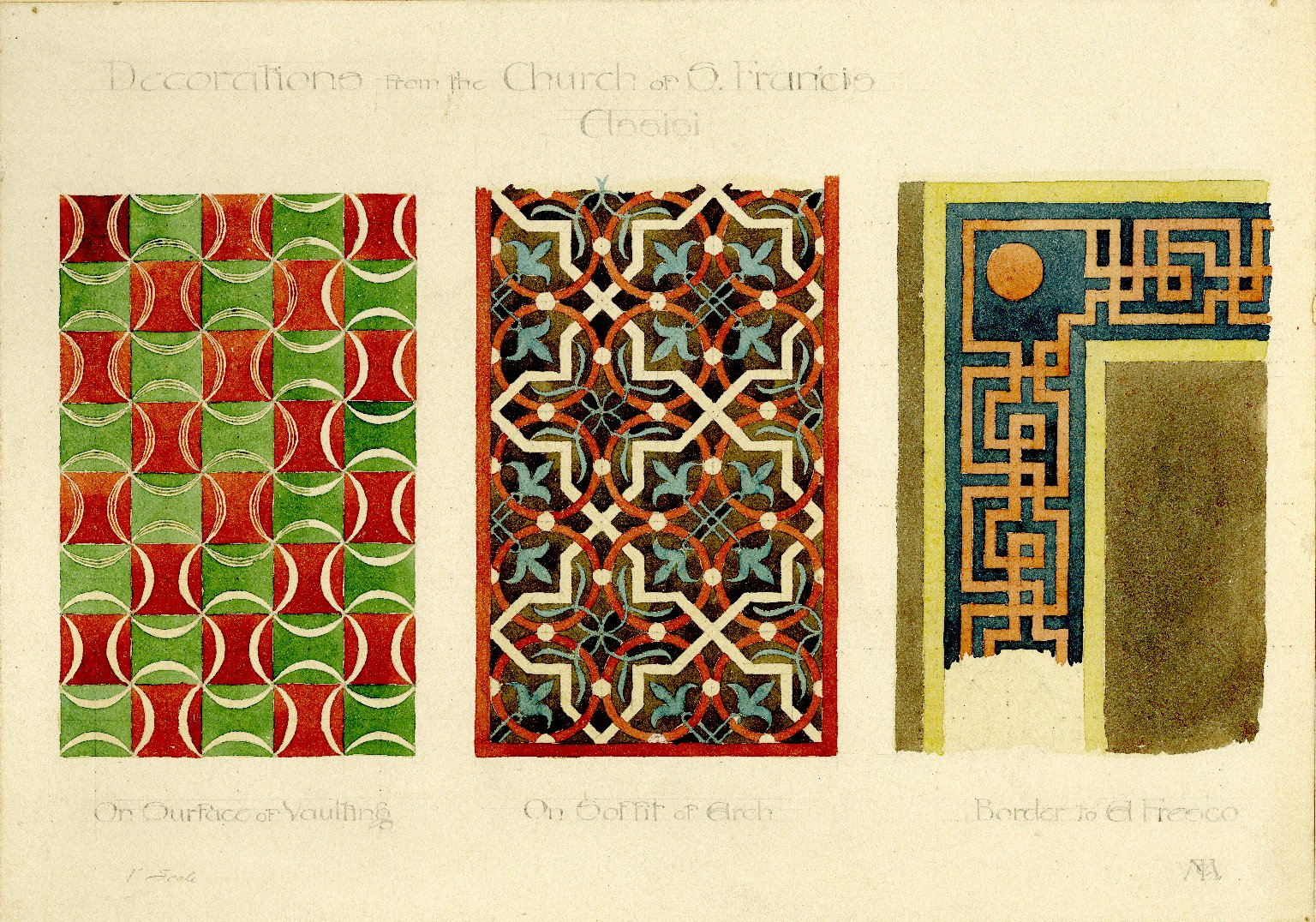 Designs at the church of St. Francis Assisi