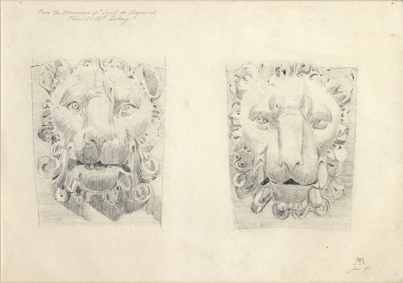 Lionhead designs from Monument of the Count de Borgnival