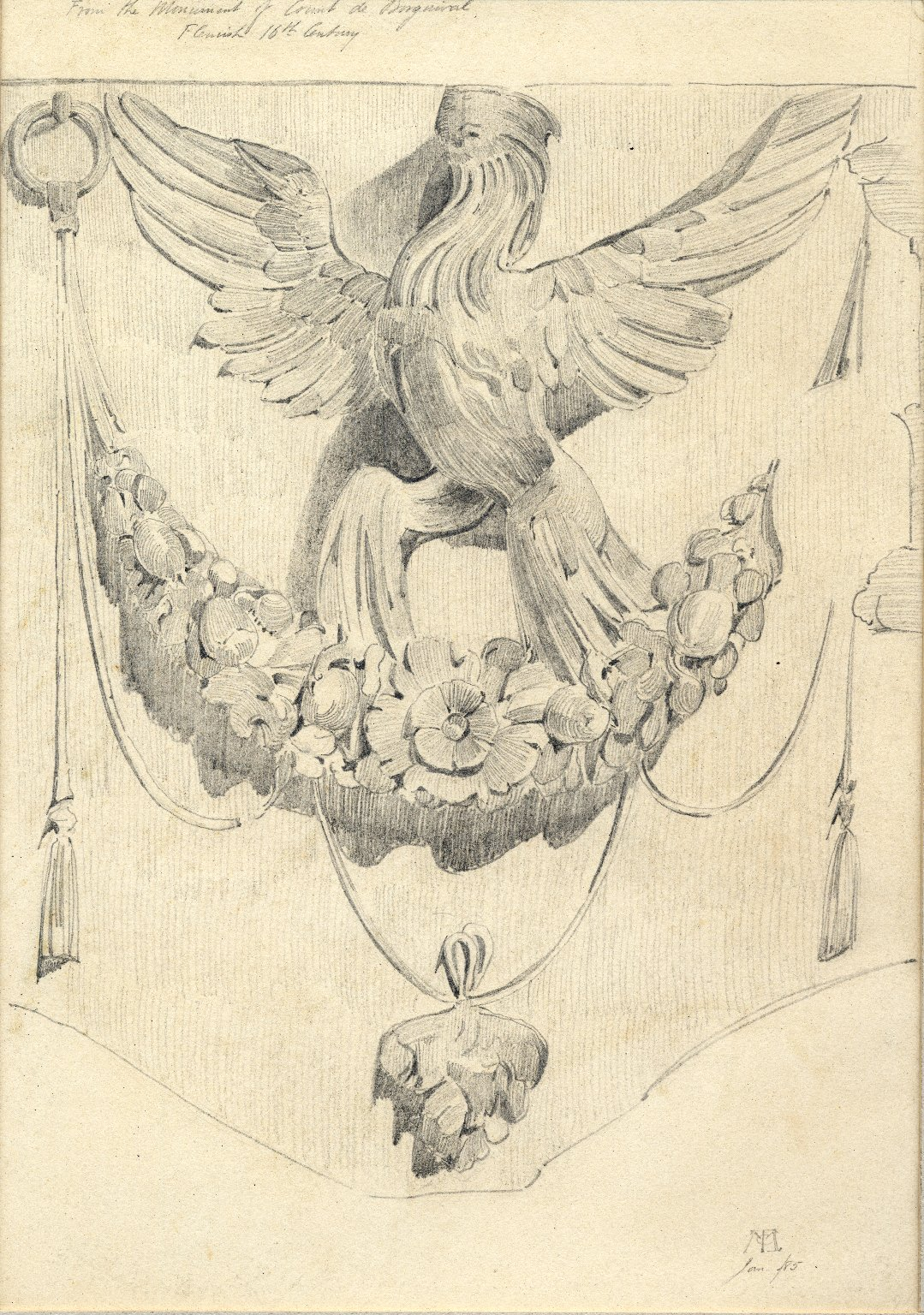 Bird design from Monument of the Count de Borgnival