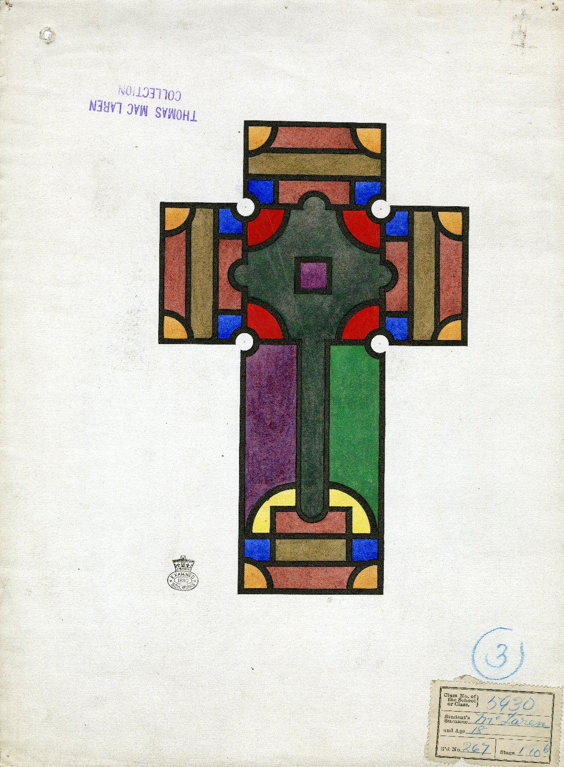 Multi-colored cross