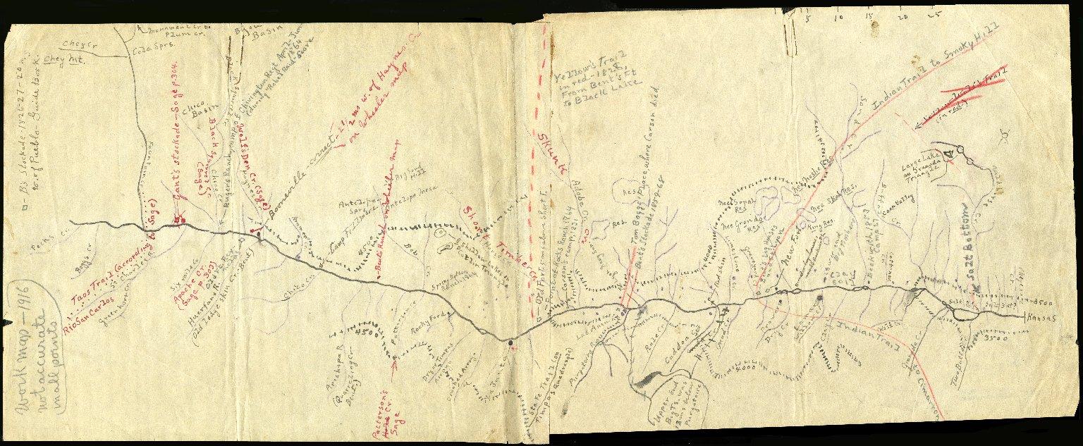 Work Map – Indian Trails, Colorado Springs, Las Animas, 1916
