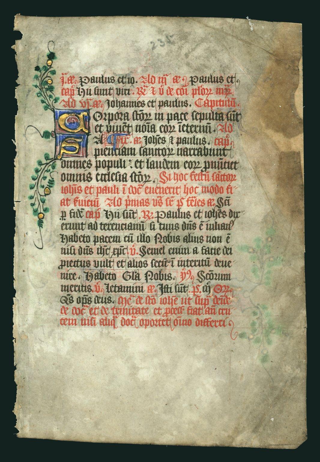 Breviary, illuminated. France
