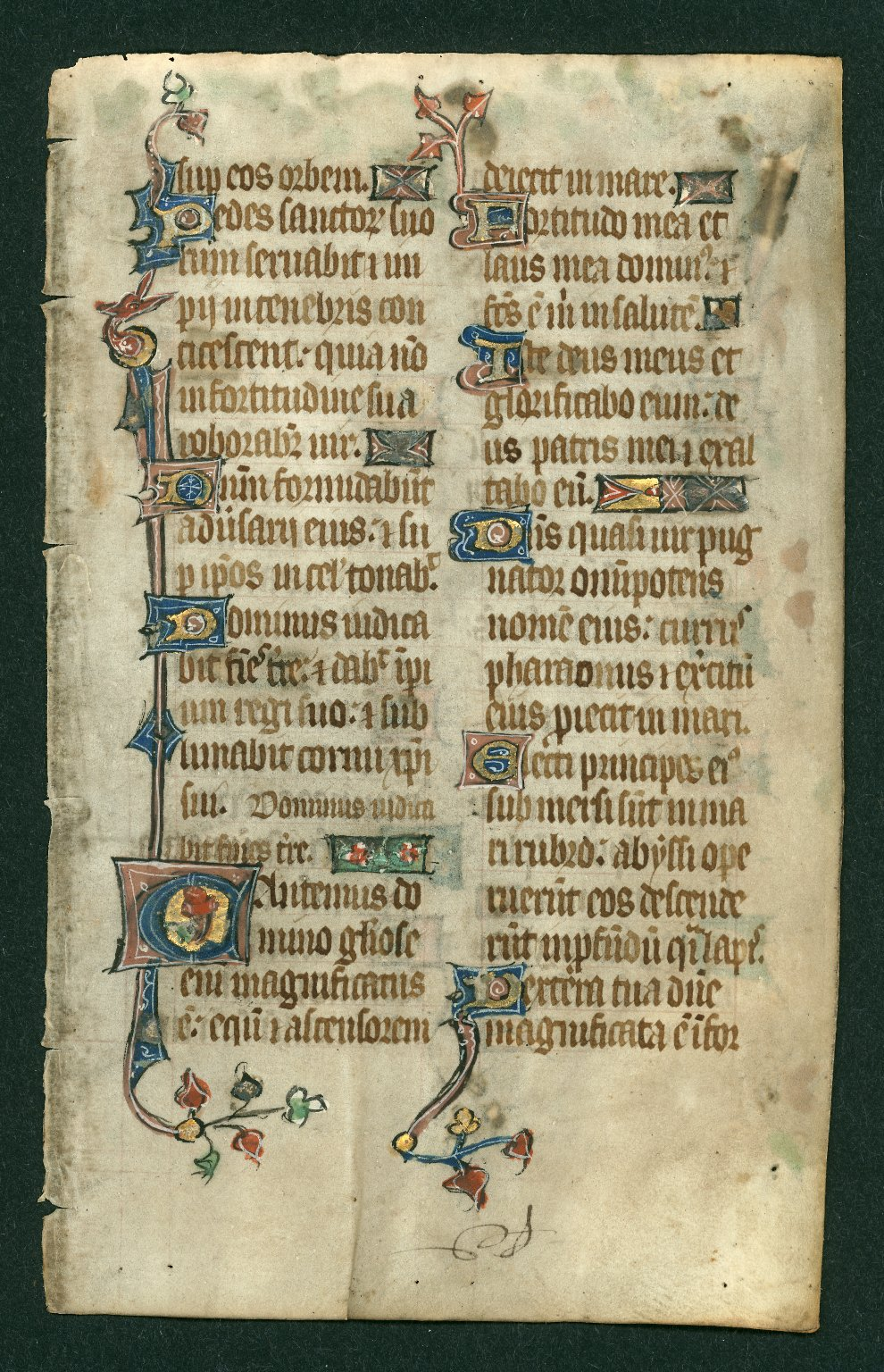 Psalter, illuminated. England