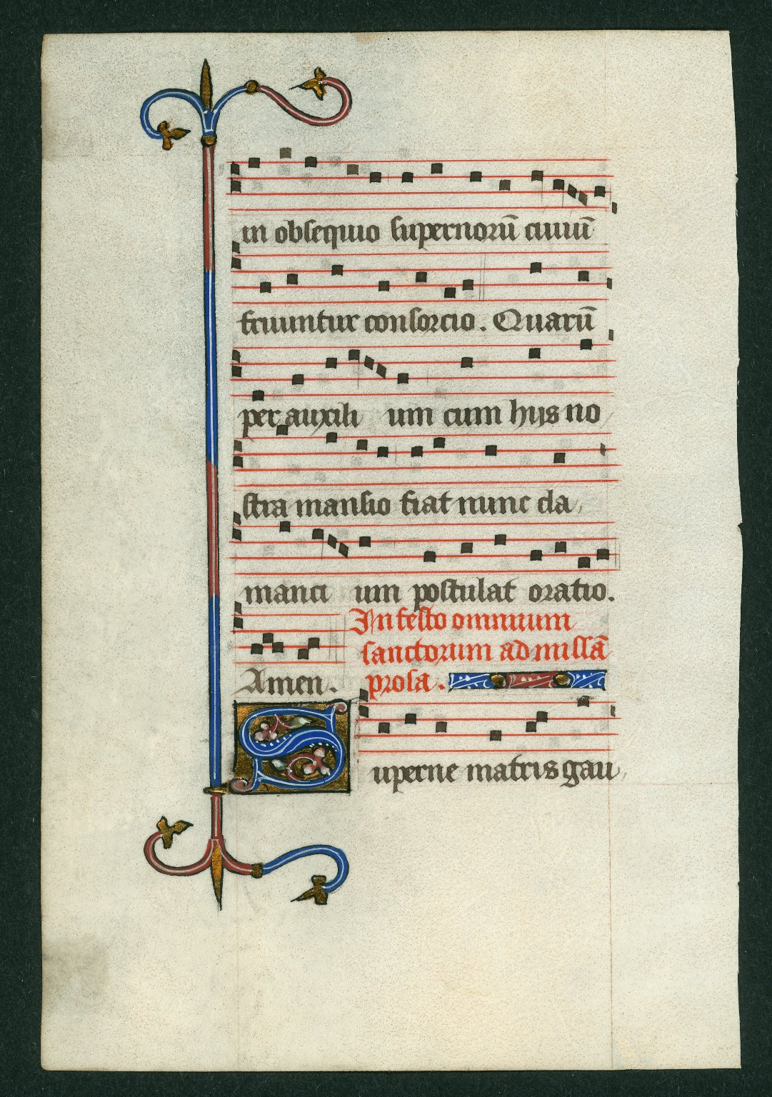 Hymnal, illuminated. France