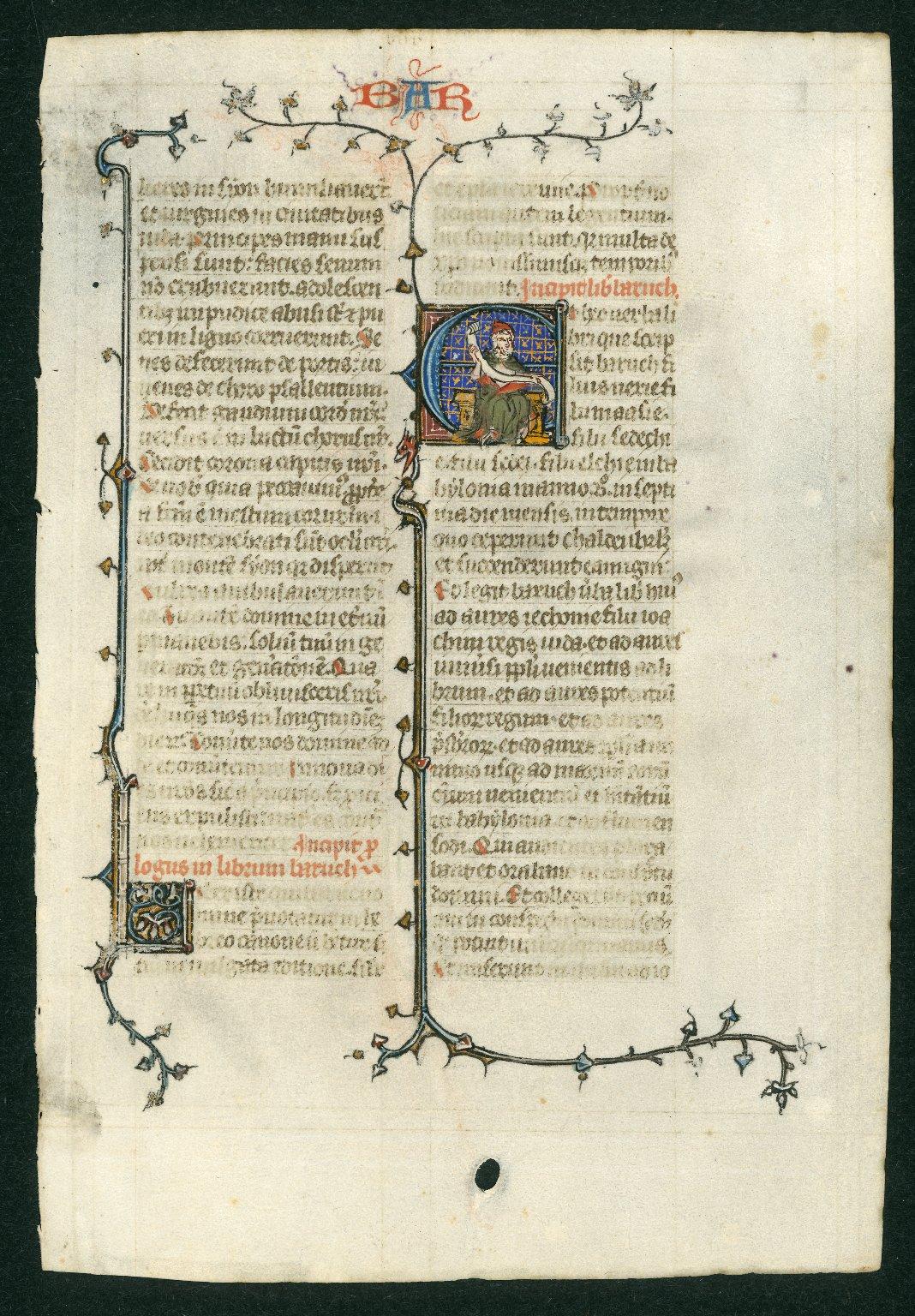 Bible leaf: Baruch