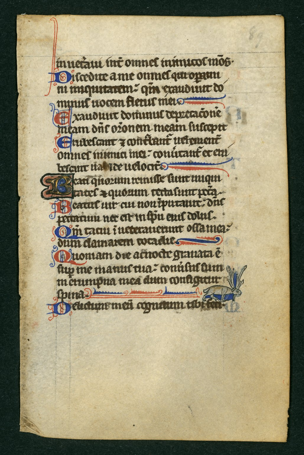 Book of Hours (from Penitential Psalms)