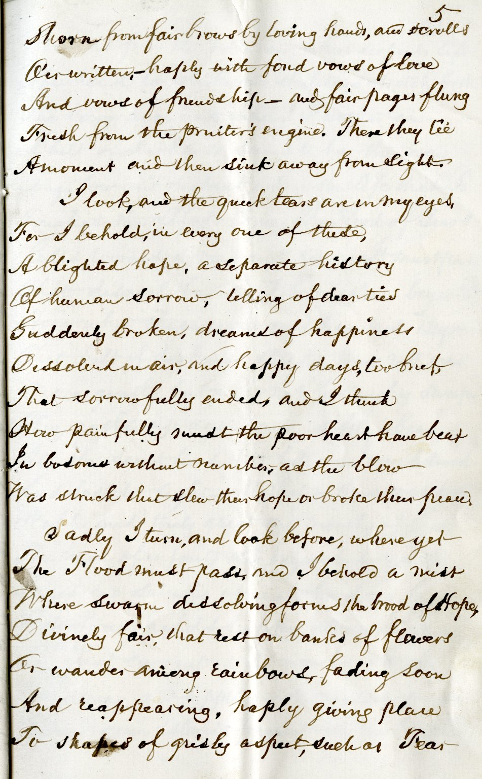 Bryant, William Cullen. Holograph poem, 7 pages, signed [1876].