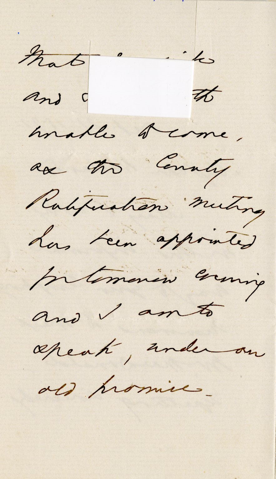 Curtis, George Wm. ALS, 3 pages, Oct. 21, 1872.