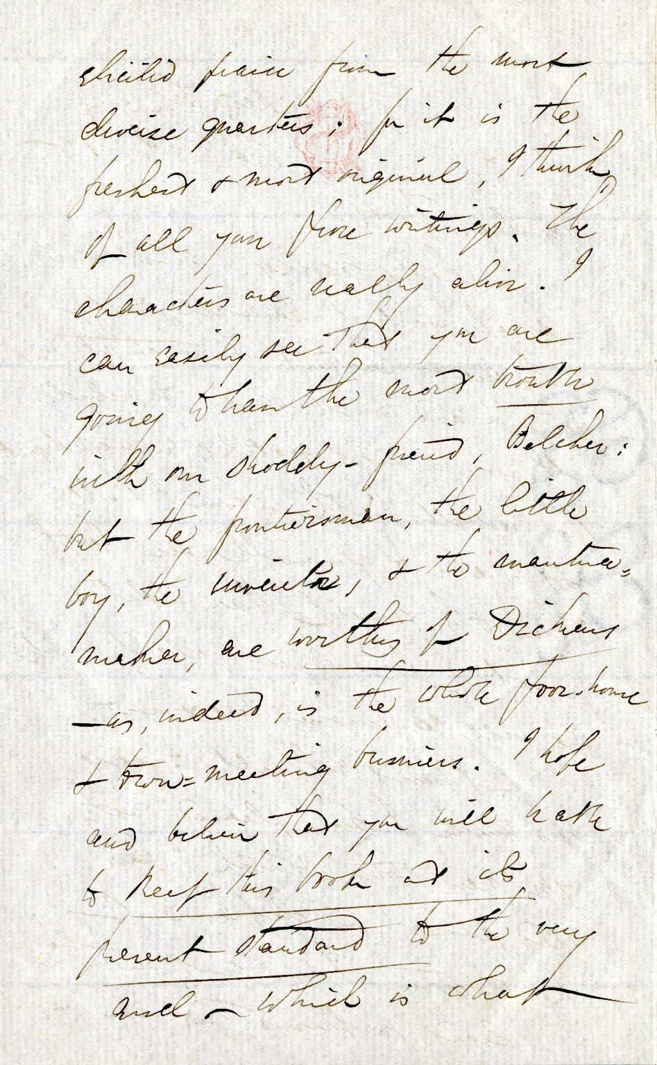 Stedman, Edmund C. ALS, 4 pages, February 1875