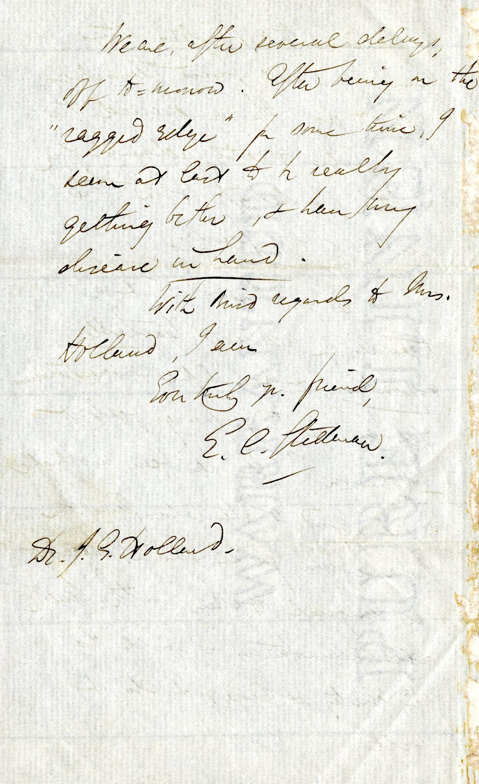 Stedman, Edmund C. ALS, 4 pages, February 1875