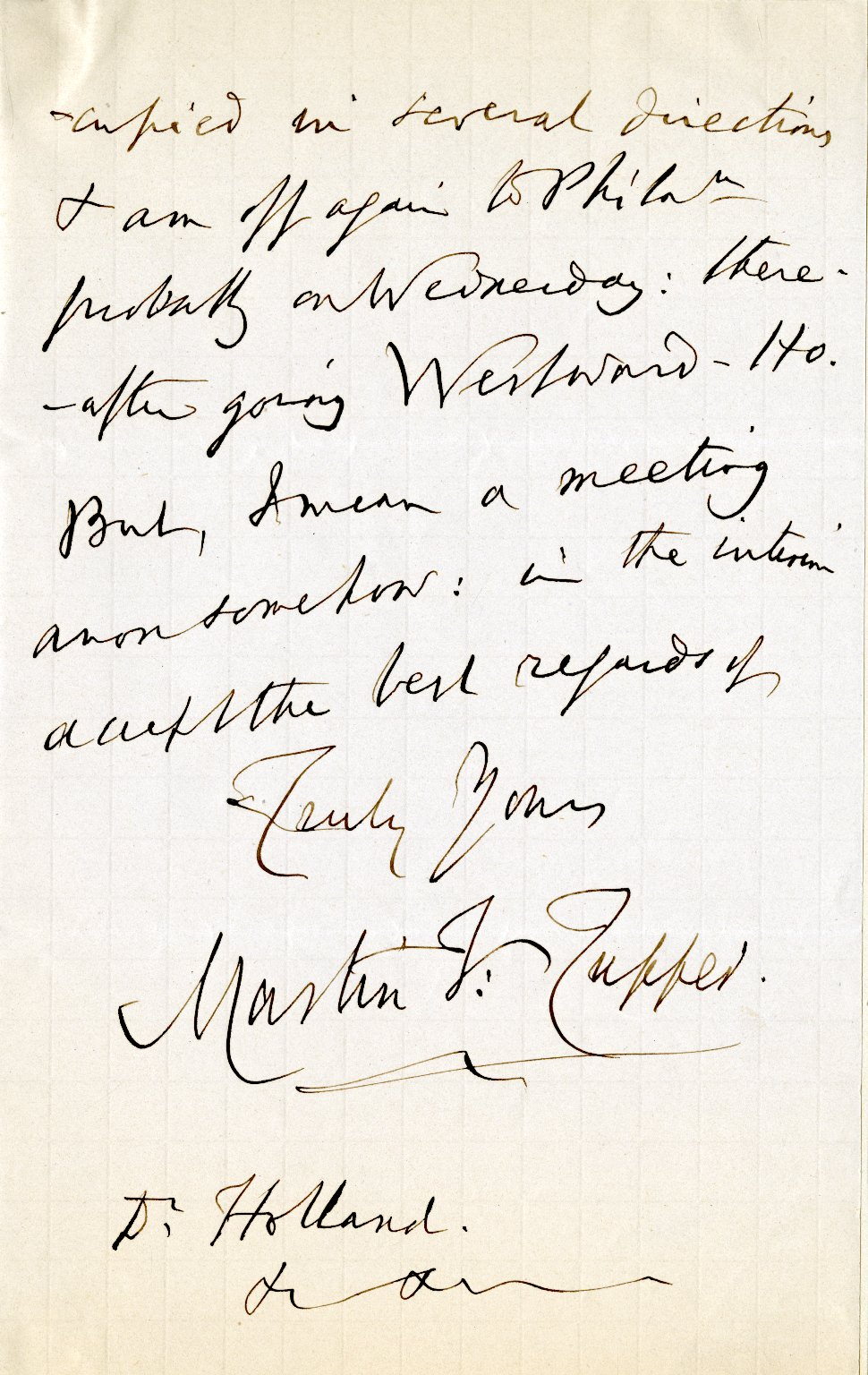 Tupper, Martin. ALS, 2 pages, November 6, 1876.